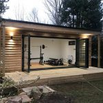 Garden room office and gym installation and build service