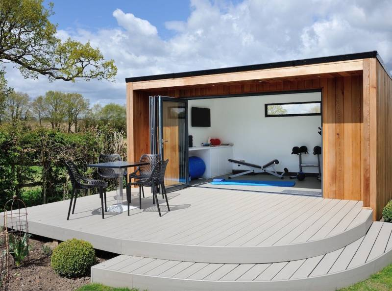gym-garden-room-with-exterior-raised-deck